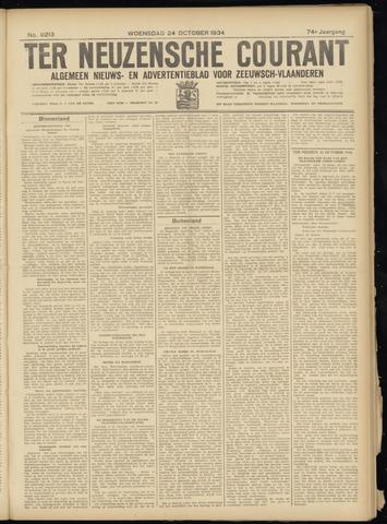 Ter Neuzensche Courant. Algemeen Nieuws- en Advertentieblad voor Zeeuwsch-Vlaanderen / Neuzensche Courant ... (idem) / (Algemeen) nieuws en advertentieblad voor Zeeuwsch-Vlaanderen 1934-10-24