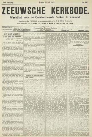 Zeeuwsche kerkbode, weekblad gewijd aan de belangen der gereformeerde kerken/ Zeeuwsch kerkblad 1927-07-22