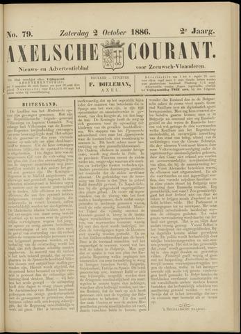 Axelsche Courant 1886-10-02