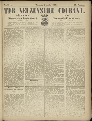 Ter Neuzensche Courant. Algemeen Nieuws- en Advertentieblad voor Zeeuwsch-Vlaanderen / Neuzensche Courant ... (idem) / (Algemeen) nieuws en advertentieblad voor Zeeuwsch-Vlaanderen 1889-10-02