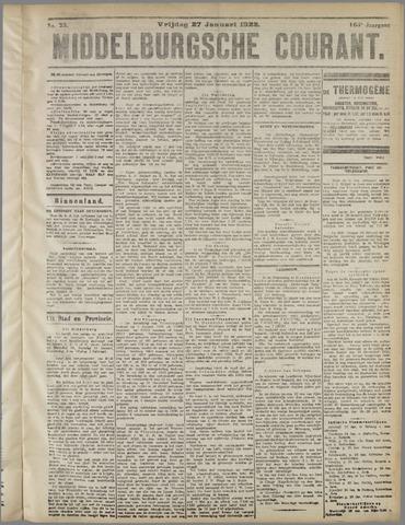 Middelburgsche Courant 1922-01-27