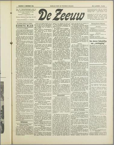 De Zeeuw. Christelijk-historisch nieuwsblad voor Zeeland 1934-12-03