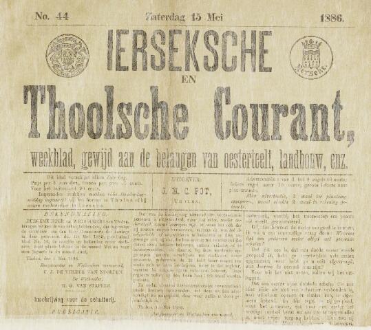Ierseksche en Thoolsche Courant 1886-05-15