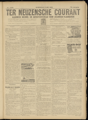 Ter Neuzensche Courant. Algemeen Nieuws- en Advertentieblad voor Zeeuwsch-Vlaanderen / Neuzensche Courant ... (idem) / (Algemeen) nieuws en advertentieblad voor Zeeuwsch-Vlaanderen 1935-05-08