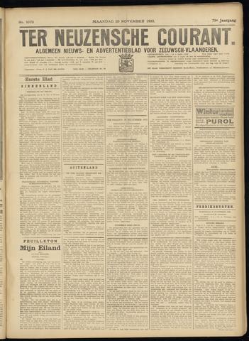 Ter Neuzensche Courant. Algemeen Nieuws- en Advertentieblad voor Zeeuwsch-Vlaanderen / Neuzensche Courant ... (idem) / (Algemeen) nieuws en advertentieblad voor Zeeuwsch-Vlaanderen 1933-11-20