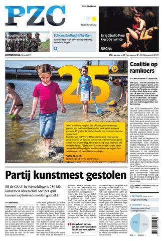 Provinciale Zeeuwse Courant 2015-04-16