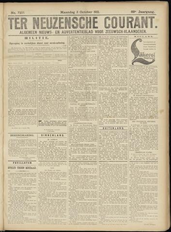 Ter Neuzensche Courant. Algemeen Nieuws- en Advertentieblad voor Zeeuwsch-Vlaanderen / Neuzensche Courant ... (idem) / (Algemeen) nieuws en advertentieblad voor Zeeuwsch-Vlaanderen 1921-10-03