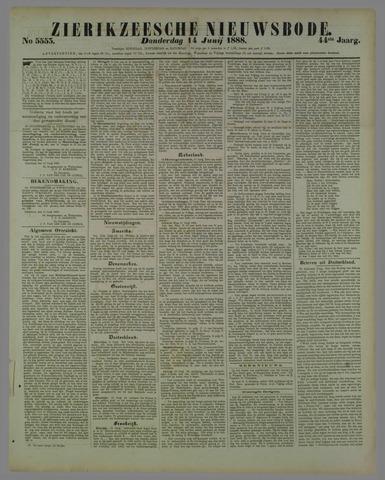 Zierikzeesche Nieuwsbode 1888-06-14