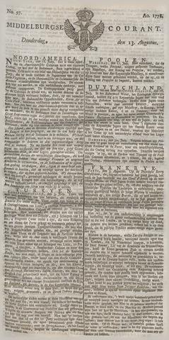 Middelburgsche Courant 1778-08-13