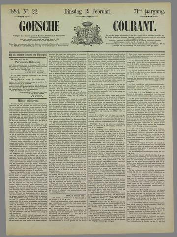 Goessche Courant 1884-02-19
