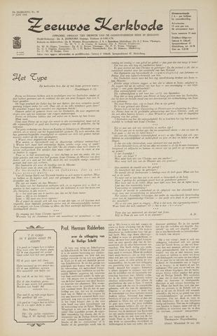 Zeeuwsche kerkbode, weekblad gewijd aan de belangen der gereformeerde kerken/ Zeeuwsch kerkblad 1968-06-27