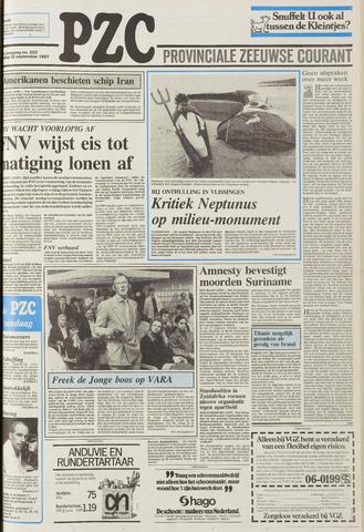 Provinciale Zeeuwse Courant 1987-09-22