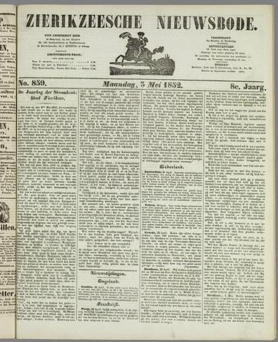 Zierikzeesche Nieuwsbode 1852-05-03