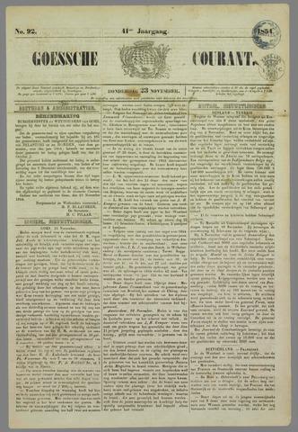 Goessche Courant 1854-11-23