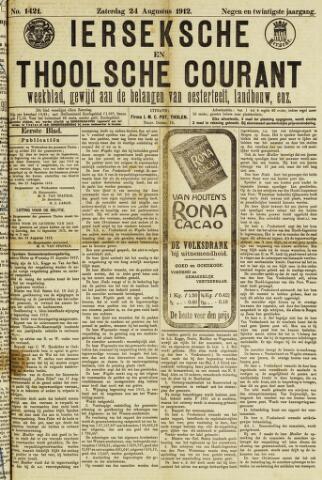 Ierseksche en Thoolsche Courant 1912-08-24