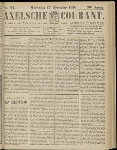 Axelsche Courant 1920-11-17