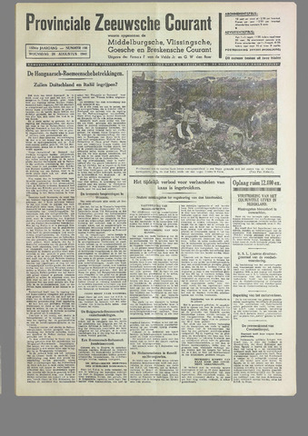 Provinciale Zeeuwse Courant 1940-08-28