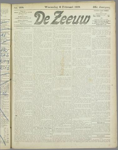 De Zeeuw. Christelijk-historisch nieuwsblad voor Zeeland 1918-02-06