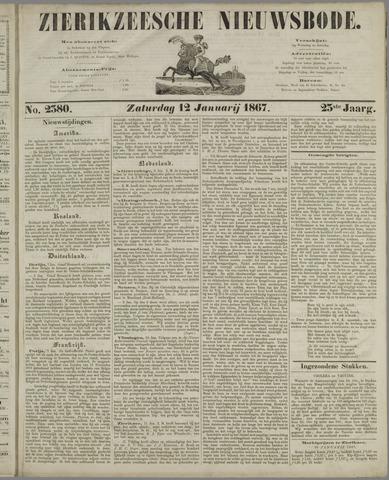 Zierikzeesche Nieuwsbode 1867-01-12