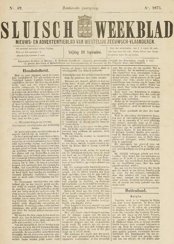 Sluisch Weekblad. Nieuws- en advertentieblad voor Westelijk Zeeuwsch-Vlaanderen 1875-09-10