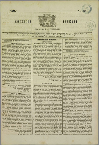 Goessche Courant 1850-02-11