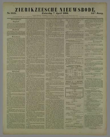 Zierikzeesche Nieuwsbode 1888-04-07