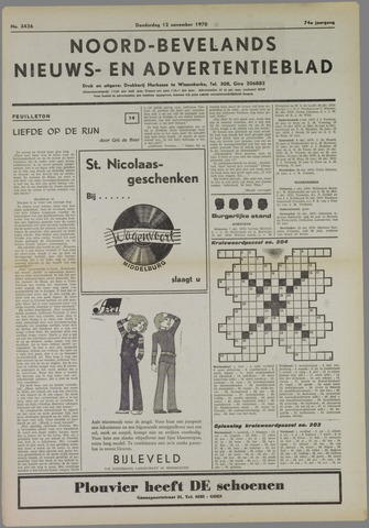 Noord-Bevelands Nieuws- en advertentieblad 1970-11-12