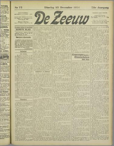De Zeeuw. Christelijk-historisch nieuwsblad voor Zeeland 1924-12-23