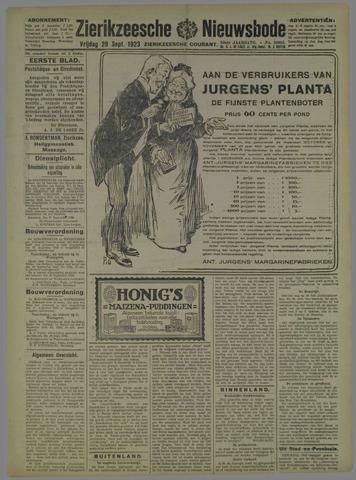 Zierikzeesche Nieuwsbode 1923-09-28
