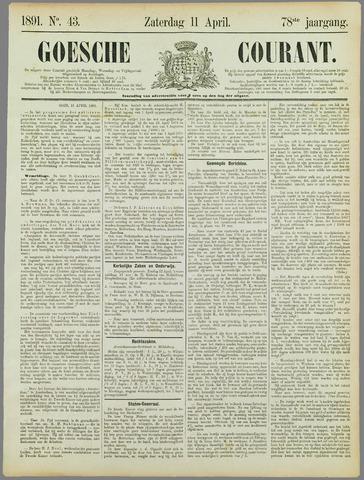 Goessche Courant 1891-04-11