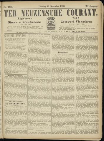 Ter Neuzensche Courant. Algemeen Nieuws- en Advertentieblad voor Zeeuwsch-Vlaanderen / Neuzensche Courant ... (idem) / (Algemeen) nieuws en advertentieblad voor Zeeuwsch-Vlaanderen 1888-11-17
