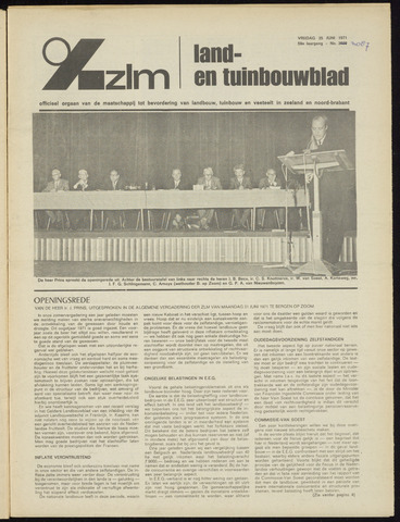 Zeeuwsch landbouwblad ... ZLM land- en tuinbouwblad 1971-06-25