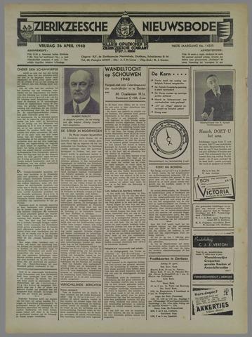 Zierikzeesche Nieuwsbode 1940-04-26
