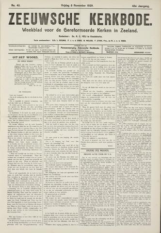 Zeeuwsche kerkbode, weekblad gewijd aan de belangen der gereformeerde kerken/ Zeeuwsch kerkblad 1929-11-08