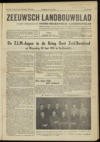 Zeeuwsch landbouwblad ... ZLM land- en tuinbouwblad 1951-06-16