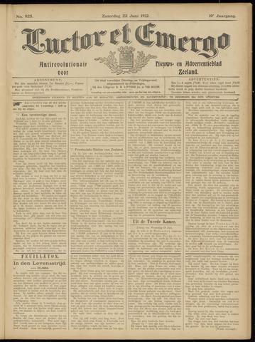 Luctor et Emergo. Antirevolutionair nieuws- en advertentieblad voor Zeeland / Zeeuwsch-Vlaanderen. Orgaan ter verspreiding van de christelijke beginselen in Zeeuwsch-Vlaanderen 1912-06-22