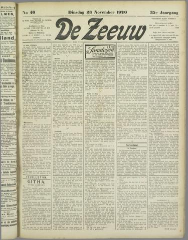 De Zeeuw. Christelijk-historisch nieuwsblad voor Zeeland 1920-11-23