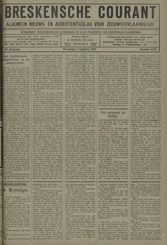Breskensche Courant 1922-08-09