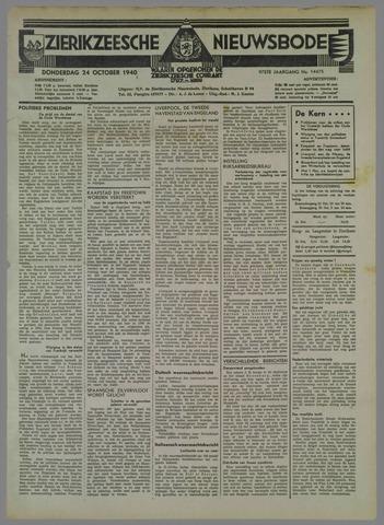 Zierikzeesche Nieuwsbode 1940-10-24