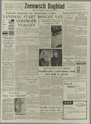 Zeeuwsch Dagblad 1958-12-01