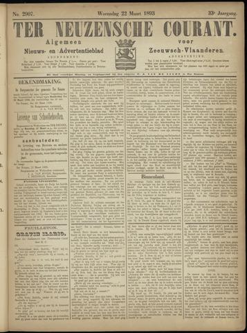 Ter Neuzensche Courant. Algemeen Nieuws- en Advertentieblad voor Zeeuwsch-Vlaanderen / Neuzensche Courant ... (idem) / (Algemeen) nieuws en advertentieblad voor Zeeuwsch-Vlaanderen 1893-03-22