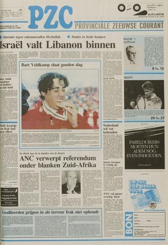 Provinciale Zeeuwse Courant 1992-02-21