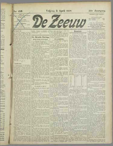 De Zeeuw. Christelijk-historisch nieuwsblad voor Zeeland 1918-04-05