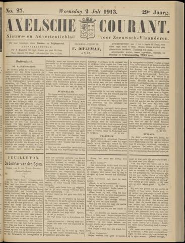 Axelsche Courant 1913-07-02