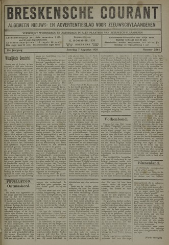 Breskensche Courant 1920-08-07