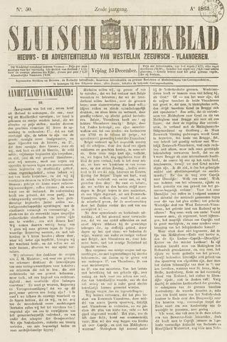Sluisch Weekblad. Nieuws- en advertentieblad voor Westelijk Zeeuwsch-Vlaanderen 1865-12-15