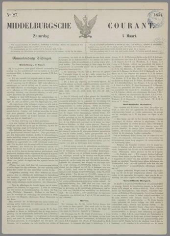 Middelburgsche Courant 1854-03-04