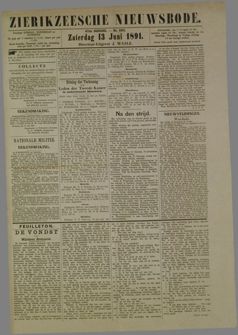 Zierikzeesche Nieuwsbode 1891-06-13