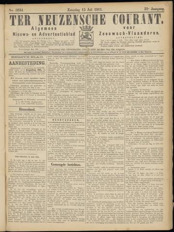 Ter Neuzensche Courant. Algemeen Nieuws- en Advertentieblad voor Zeeuwsch-Vlaanderen / Neuzensche Courant ... (idem) / (Algemeen) nieuws en advertentieblad voor Zeeuwsch-Vlaanderen 1911-07-15