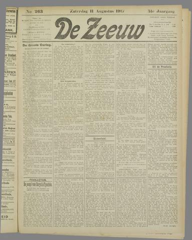 De Zeeuw. Christelijk-historisch nieuwsblad voor Zeeland 1917-08-11